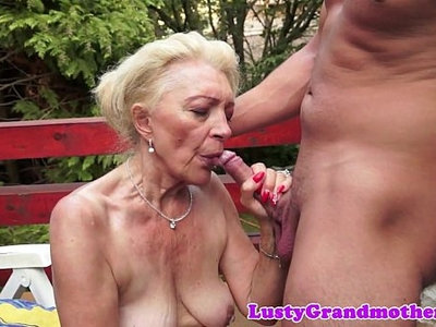 banged  mature  old and young  outdoor