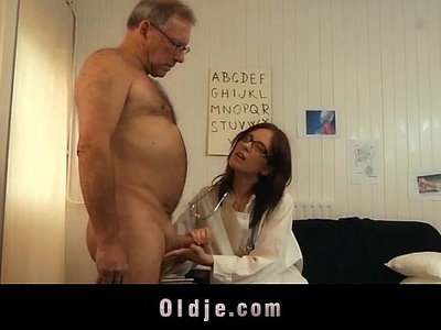 cock  doctor  fuck  glasses  old and young  sucking